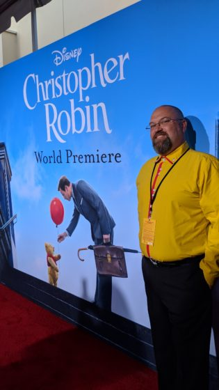 Disney Bounding as Winnie the Pooh at the Christopher Robin Red Carpet Premiere